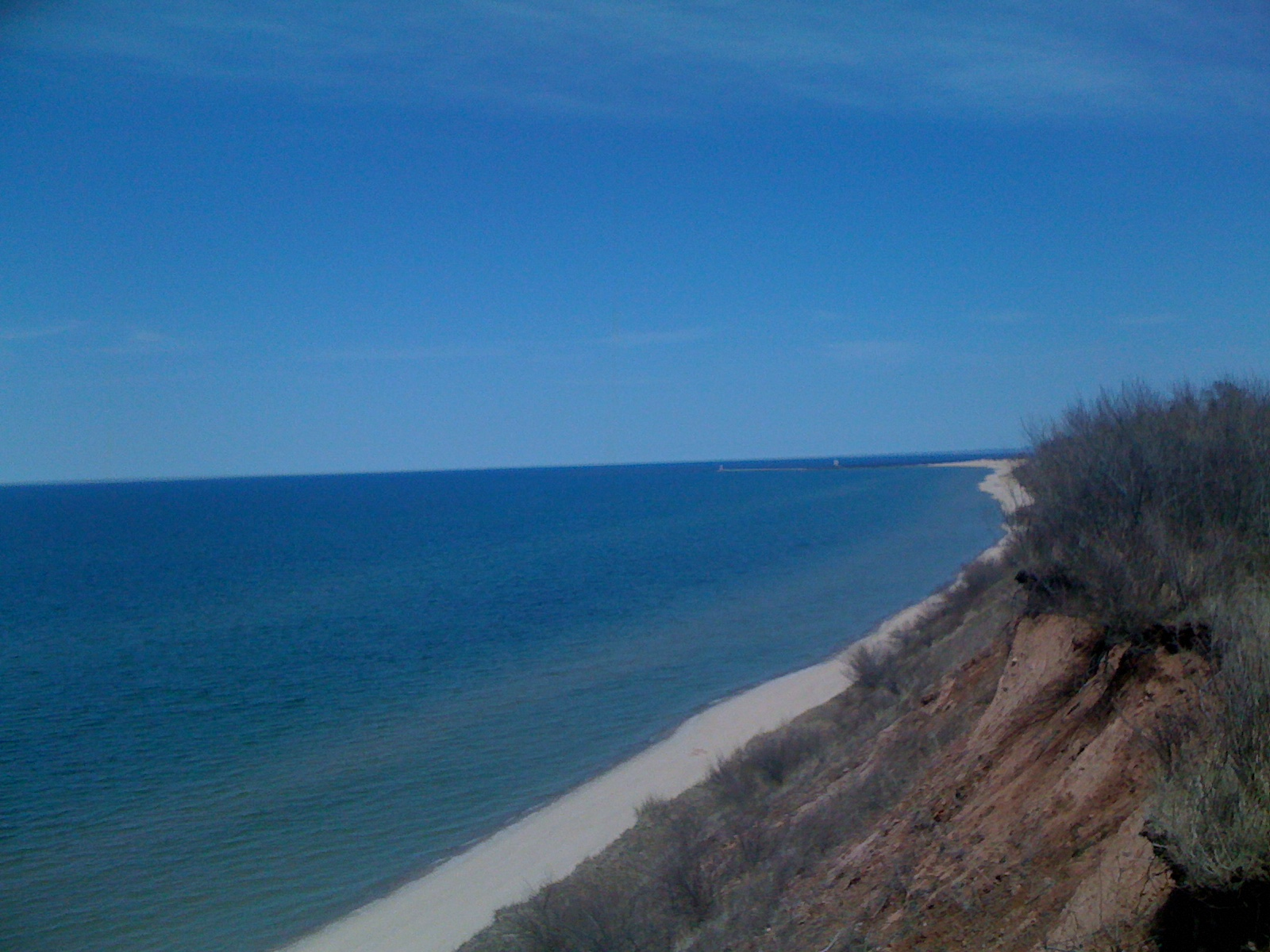 Stunning views from the bluff overlooking Lake Michigan.